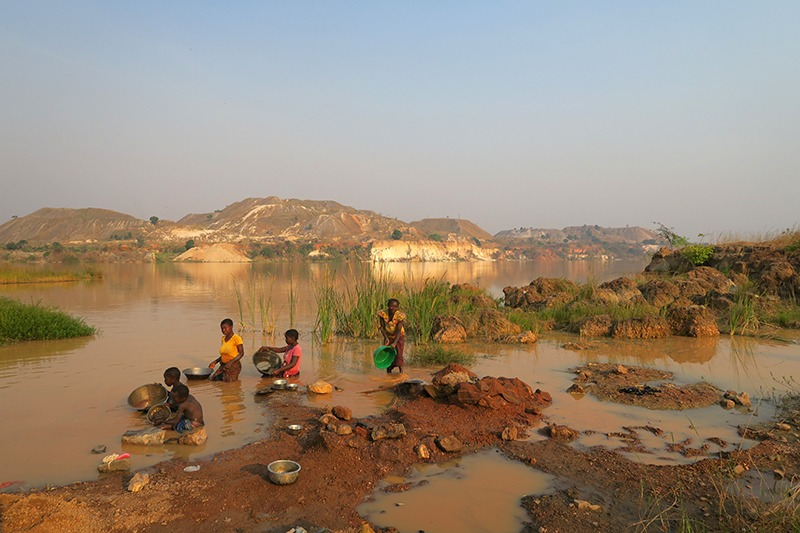 Roche Dure, lake on top of Pegmatite, Manono, DRC